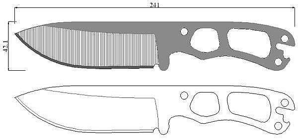 Чертеж ножа Becker-Necker