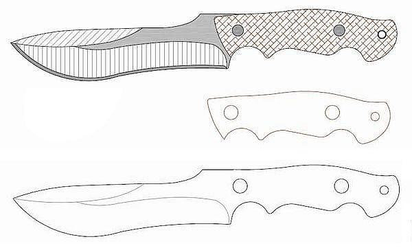Чертеж ножа Burnley evolution