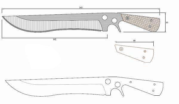 Чертеж ножа SAR