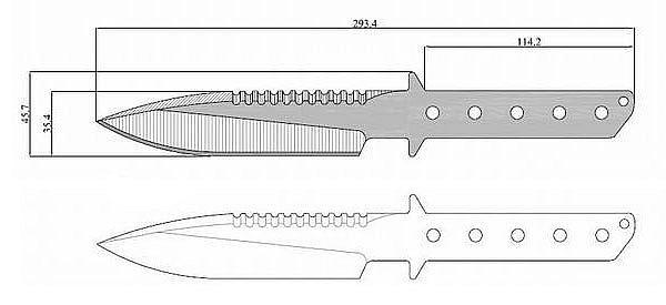 Чертеж ножа Strider MT SS