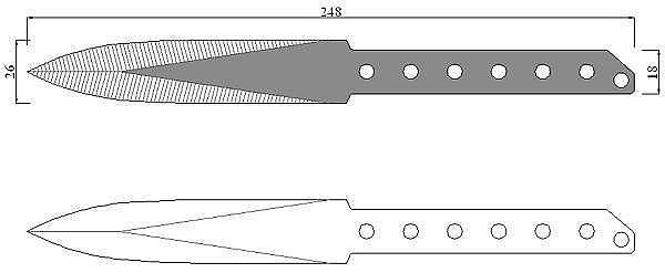 Чертеж ножа Strider PH