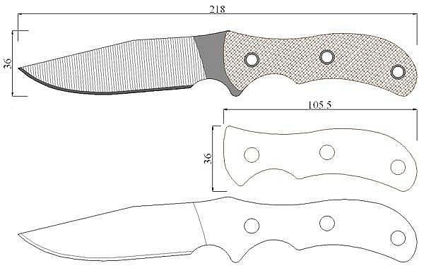 Чертеж ножа Swamp Rat-SAR