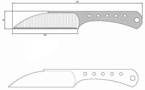 Чертеж ножа Vlastny navrh 3