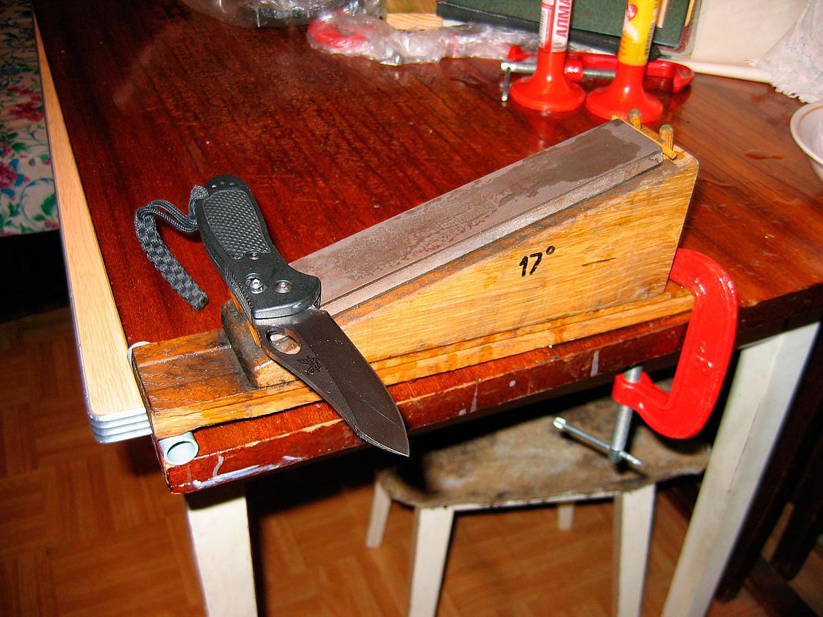 Заточка ножей видео