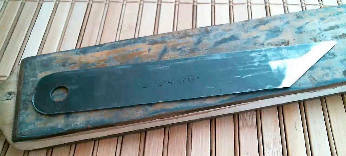 Заточка сапожного ножа