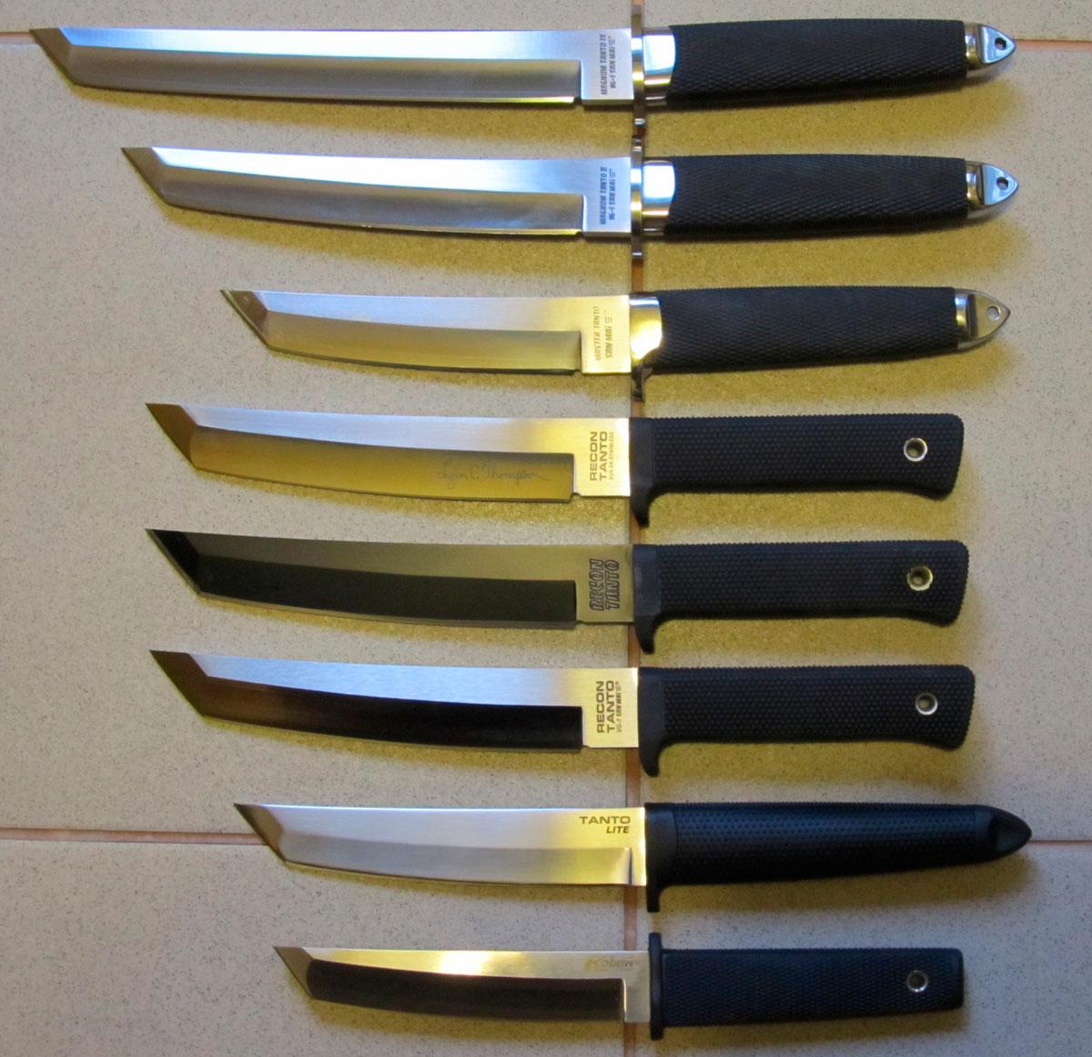 размеры конфигурация поварских ножей