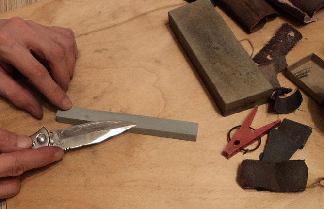 Заточить охотничий нож своими руками 17