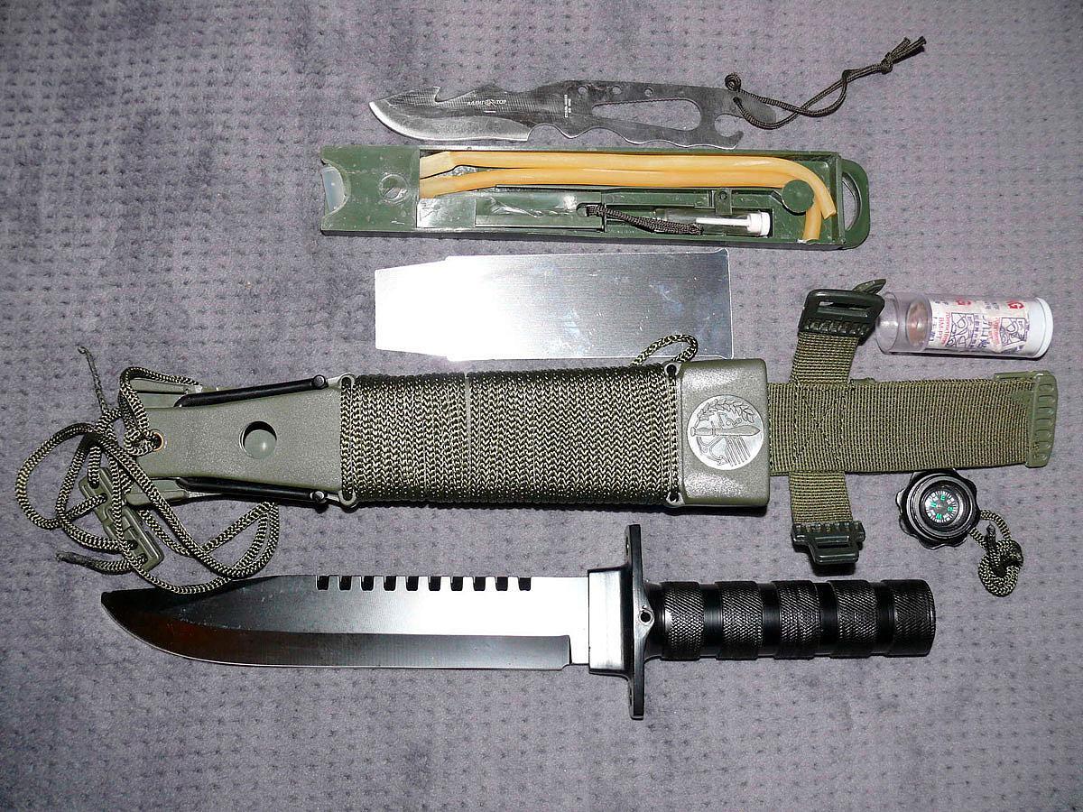 Многофункциональные ножи для выживания своими руками 20