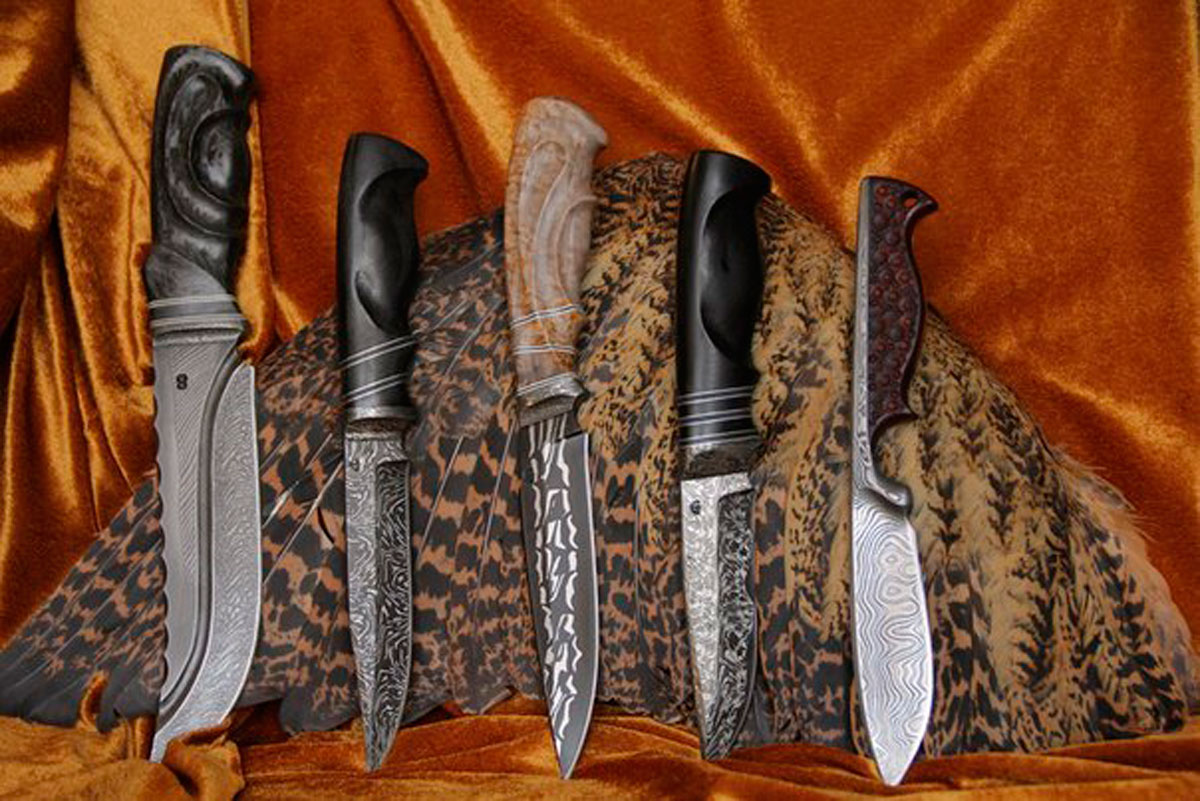 Ножи с узорами фото